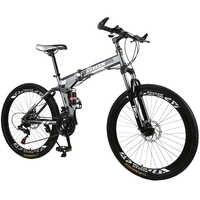 Kubeen mountain bike 26 polegadas de aço 21 velocidades bicicletas freios a disco duplo velocidade variável bicicletas de estrada corrida bicicleta bmx 4.2