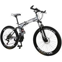 Kubeen mountain bike 26 polegadas de aço 21 velocidades bicicletas freios a disco duplo velocidade variável bicicletas de estrada corrida bicicleta bmx 4.2|Bicicleta| |  -