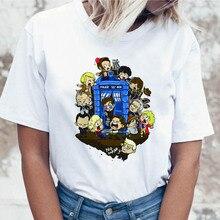 Doctor Who t shirt graphic female top funny harajuku for tees women korean tshirt clothing ulzzang t-shirt