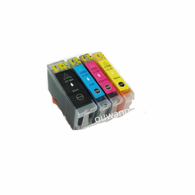 4 x mürekkep PGI-5BK CLI-8 C/M/Y Canon PIXMA iP3300 iP3500 MP510 MP520 MX700 yazıcı çip ile tam mürekkep PGI5 PGI-5