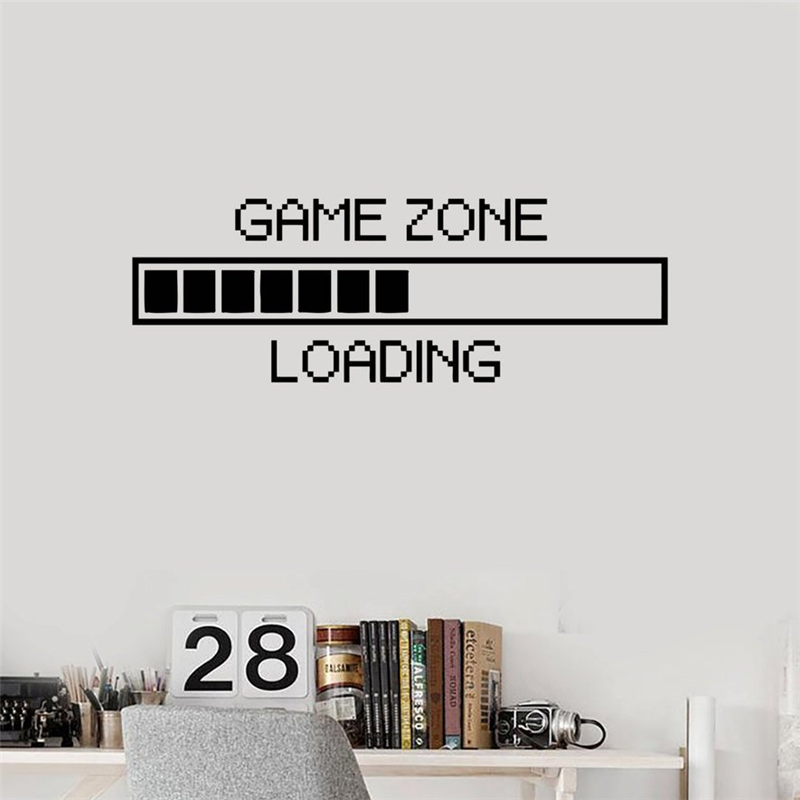 Wall Stickers Vinyl Decal Funny Computers Loading Wall Sticker RoomMates Home Decor Wall Art Murals Housewares Design X141-in Wall Stickers from Home ...  sc 1 st  AliExpress.com & Wall Stickers Vinyl Decal Funny Computers Loading Wall Sticker ...