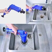 Mealivos High Pressure Air Drain Blaster Pump Plunger Sink Pipe Clog Remover Toilets Bathroom Kitchen Cleaner Kit