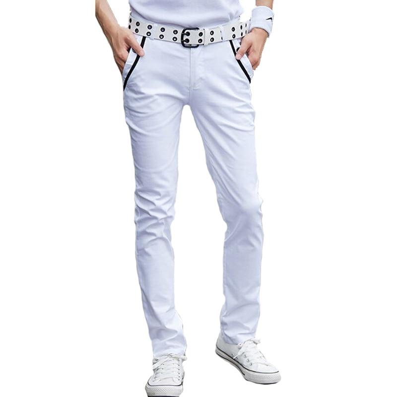 Compra mens skinny white pants y disfruta del envío gratuito en  AliExpress.com 5e1a132de975