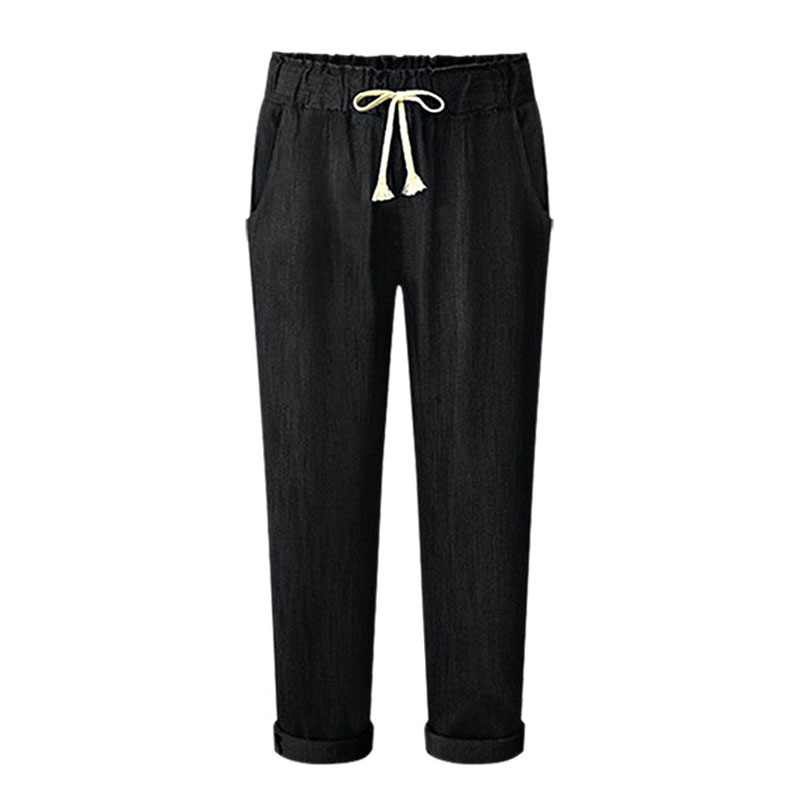 Ladies Casual Chffion Harem Pants Comfy Elastic Waist Full Length Trousers size