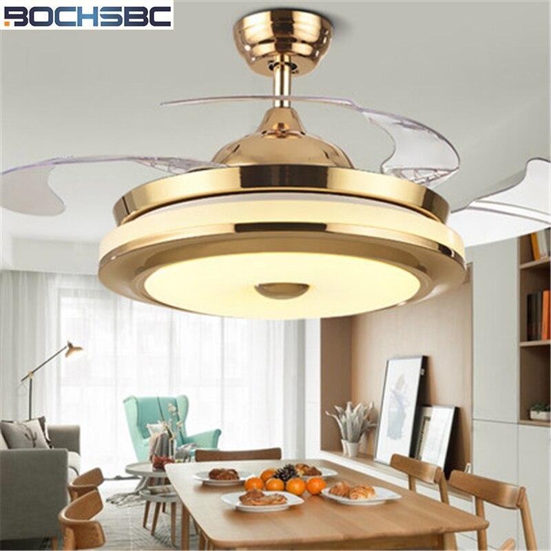Işıklar ve Aydınlatma'ten Tavan Fanları'de BOCHSBC Görünmez ışıklı tavan fanı Oturma Odası Yemek Odası Yatak Odası Fan Işık Basit Modern Elektrikli Fan Ile Lüks Özellik title=