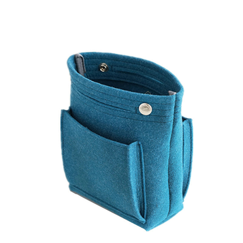 Women Portable Makeup Bag Felt Fabric Insert Handbag Cosmetics Organizer KA-BEST
