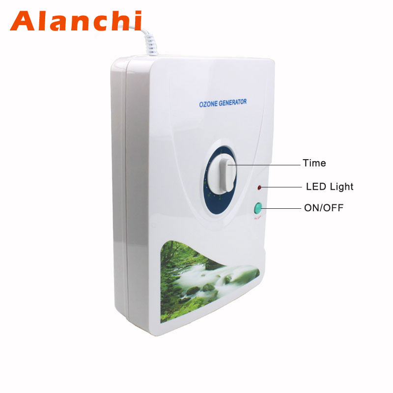 New Air Purifier Ozone Generator Ozonator Wheel Timer Air Purifiers Oil Vegetable Meat Fresh Purify Air Water ozone 600mg