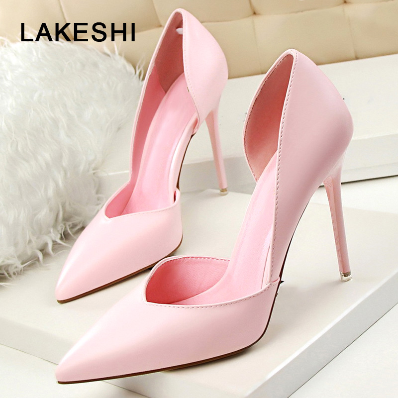 LAKESHI Extreme Women Pumps Sexy High Heels Women Heel Shoes 2018 Summer Fashion Wedding Shoes Woman Pointed Toe Ladies Shoes baoyafang new arrival ladies shoes fashion pointed toe high heels pumps women office shoes 7cm heel sexy girls wedding shoes