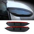 Стайлинга автомобилей углерода зеркало заднего вида дождь бровей непромокаемые гибкая лезвия аксессуар для Peugeot 2008 2014