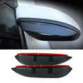 Coche de carbono estilo del espejo retrovisor lluvia ceja impermeable Flexible Protector de la cuchilla accesorio para Peugeot 2008 2014