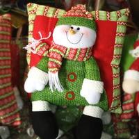 Snowman Christmas Gift Car Ornaments Auto Interior Decorations Big Santa Claus Cushion Hero Doll Toys Ornament Accessories