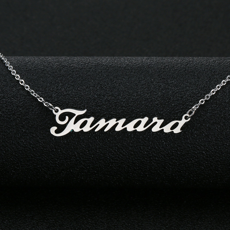 APL Custom Name Necklace, Customized Nameplate Necklace,Necklaces & Pendant For Women, Mom Bridesmaid Gift ,Can Dropshipping