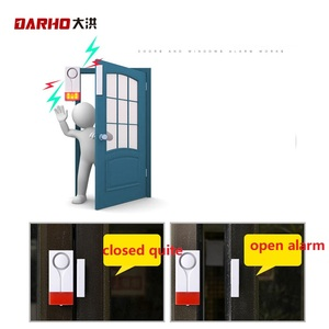 Image 2 - Darho 2PCS  433MHz Door Window Entry Security Burglar Sensor Alarm PIR Door Magnetic Wireless Alarm System Security Wholesell