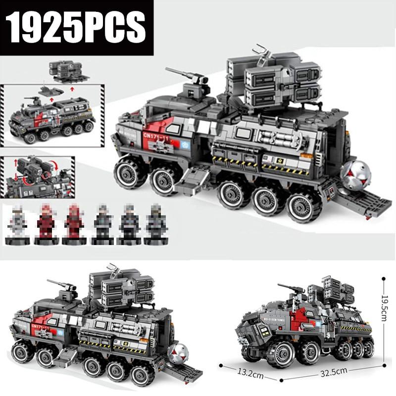 The Wandering Earth CN171 Troop Carrier Military fit technic city Swat tank Building Blocks Bricks Model