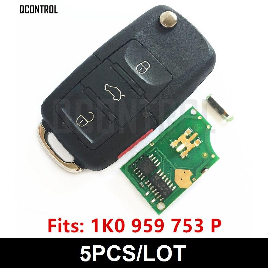 QCONTROL Car Remote Key DIY for VW VOLKSWAGEN CC EOS Golf GTI Jetta Passat R32 Rabbit