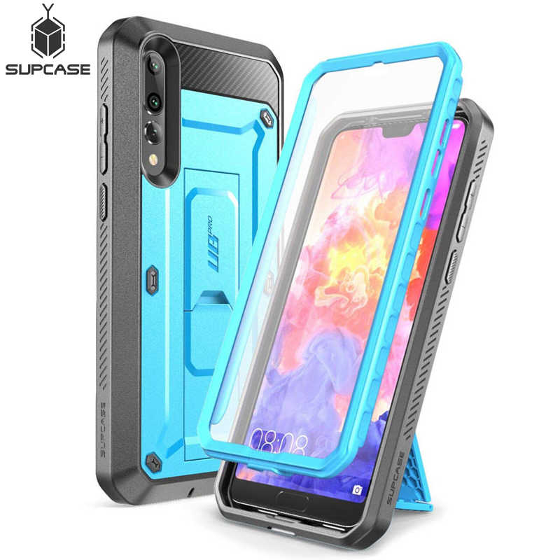 SUPCASE For Huawei P20 Pro Case UB Pro Heavy Duty Full-Body Rugged Protective Case with Built-in Screen Protector & Kickstand