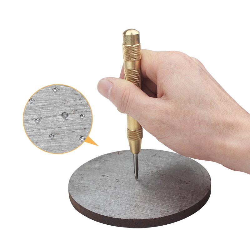 Golden HSS Automatic Center Punch Dot Punch Drill Bit Tools Positioner Semi Automatic Window Breaking Device Length 130mm