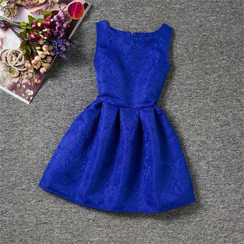 Baby Girl 2018 Spring Princess Sleeveless Kids Dress for Girls Blue Red Children Clothing Casual Wear School Outfits 6-12Y Teens uoipae girl kids dress spring 2018