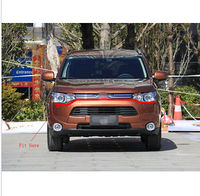 NEW! Chrome Front bumper Grille Cover Trim For Mitsubishi Outlander 2013 2014