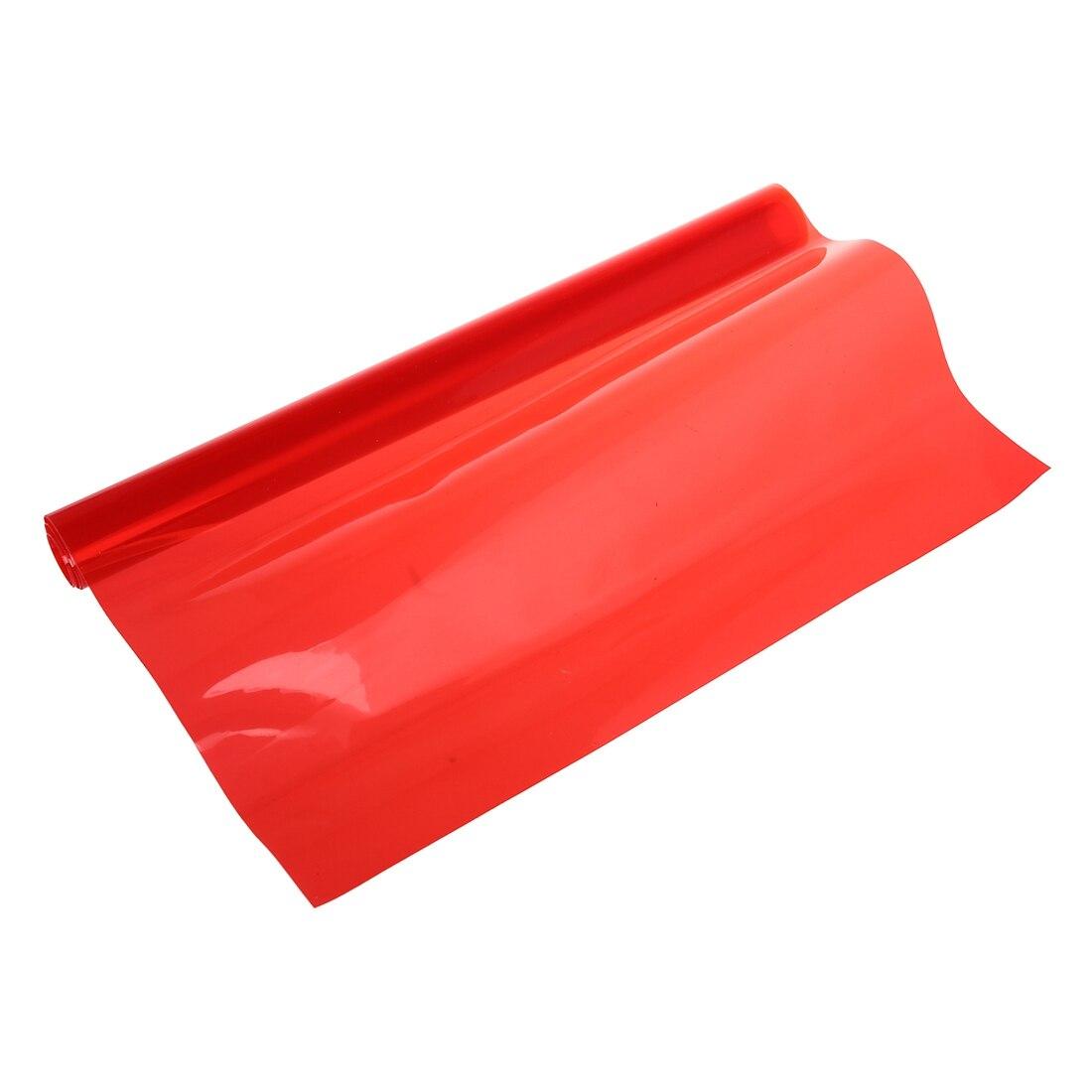 Red Car Tail Fog Head Light Headlight Tint Film Cover 30x60cm