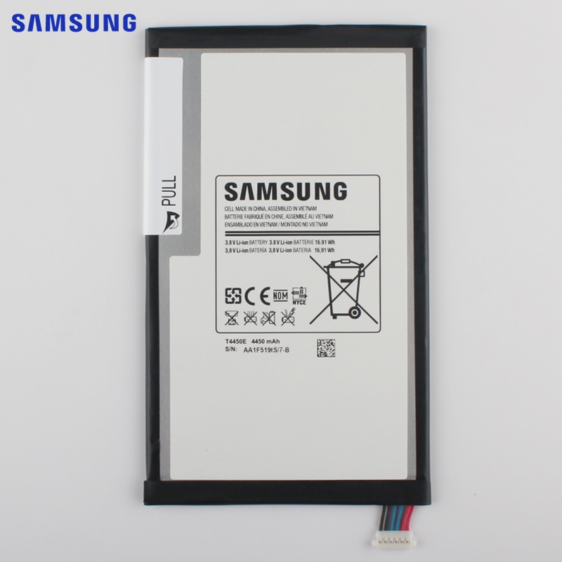 SAMSUNG Original Replacement Battery T4450E For Samsung GALAXY Tab 3 8.0 T310 T311 T315 Built-in Tablet Battery 4450mAh