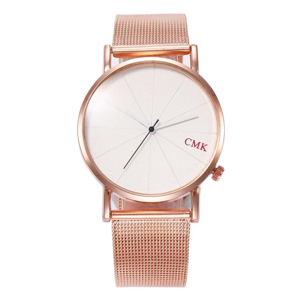 2019 Luxury Brand Women's Watches Rose Gold Stainless Steel Ultra-thin Mesh Quartz Wrist Watches Women Ladies Watch Reloj Mujer