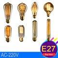 Vintage Estilo Retro Lâmpadas de Edison do Bulbo da Lâmpada E27 40 W Industrial Lâmpada de Tungstênio Filamento Edison Lâmpada Para Quarto Sala de Jantar quarto