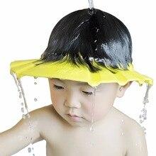1 шт. 26*28,5 см безопасные Водонепроницаемые средства для защиты глаз для душа для купания для детей Регулируемая Кепка для шампуня EVA