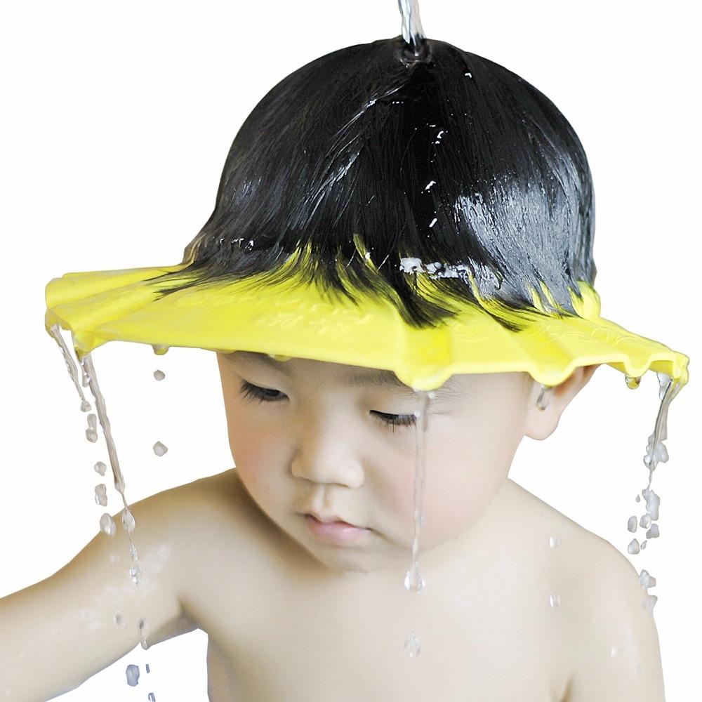 1 PCS 26*28.5 Cm Safe Waterproof Protect Eyes Hair Shower Bathing Tools For Kids Adjustable EVA Shampoo Cap