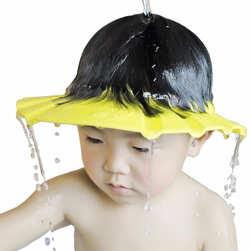 1 PCS 26*28.5 cm Safe Waterproof Protect Eyes Hair Shower Bathing Tools For Kids Adjustable EVA shampoo cap image