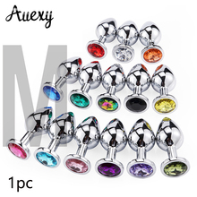 AUEXY Big M Gode Anal Plug Sex Toys for Woman Men Masturbator Buttplug Gay Sextoy Products Sexo Metal Stainless Steel Butt Plugs