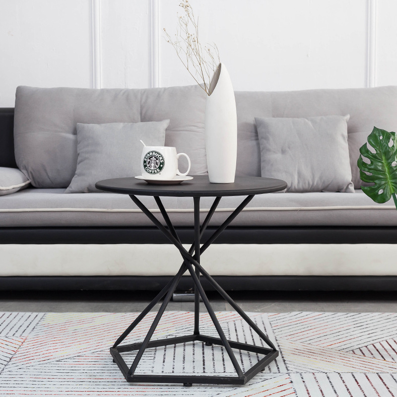 Living Room Dining Table: Fashion Coffee Table Modern Nordic Iron Art Simple Living