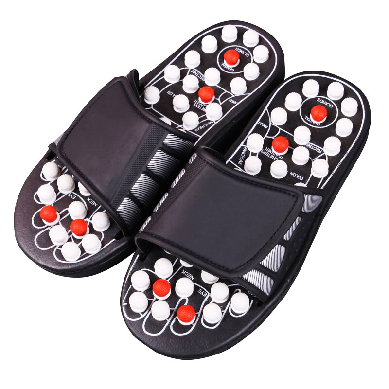 Acupuncture Foot Reflex Massage Slippers Healthy Massager Sandal For Man Women Healthy Care Rest Pebble Stone Massager Shoes фен elchim 3900 healthy ionic red 03073 07