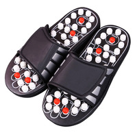 Acupuncture Foot Reflex Massage Slippers Healthy Massager Sandal For Man Women Healthy Care Rest Pebble Stone