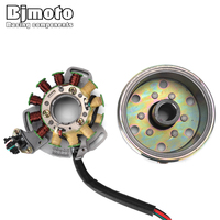 BJMOTO Motorcycle Coil Ignition Magneto Stator Flywheel For Yamaha Banshee 350 YFZ350 1987 1994 Magneto Stator Assembly