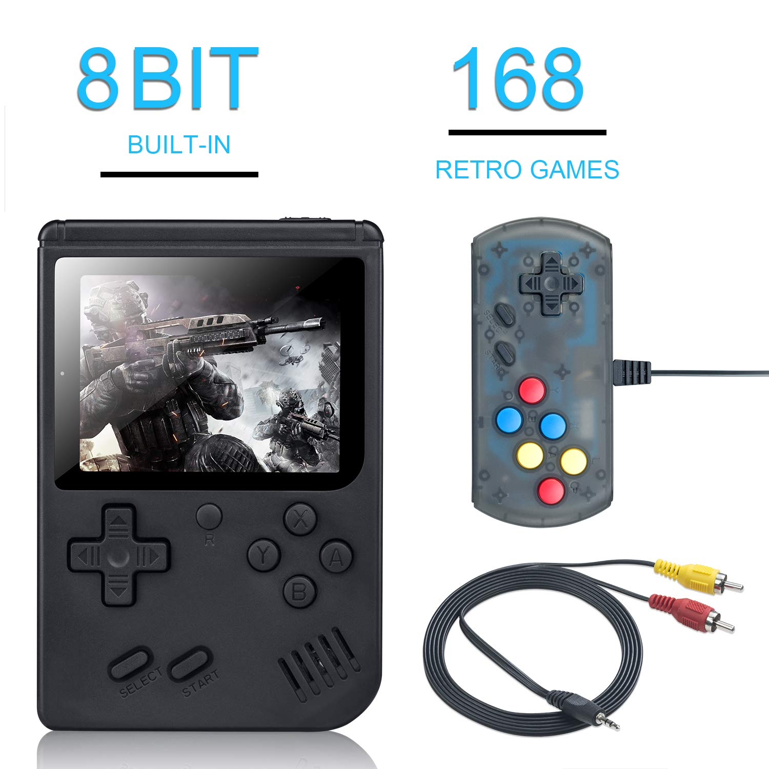 children mini boy video handheld game 168 in 1 players console 8 bit retro video game console 8bit for Child Nostalgic Player(China)