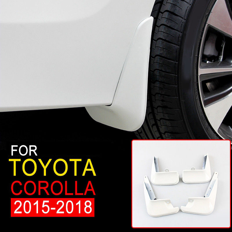 New Mudguards For Toyota Corolla 2015 2016 2017 2018 White Mud Flap Flaps Splash Guards Mudguards