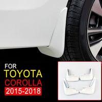 New Mudguards For Toyota Corolla 2015 2016 2017 2018 White Mud Flap Flaps Splash Guards Mudguards Chromium Styling Parts 4Pcs