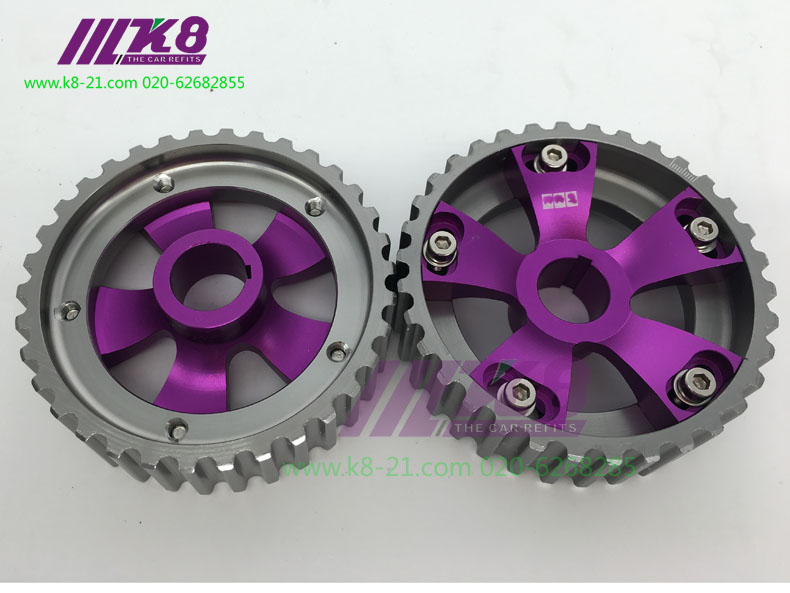 2PCS Adjustable DOHC Cam Gears Alloy Timing Gear For <font><b>Honda</b></font> <font><b>civic</b></font> <font><b>B16A</b></font> B16B DOHC image