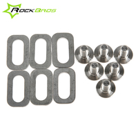 RockBros Titanium Ti Bolts Spacers For LOOK KEO Road Bike Clipless Pedals Cleats Self Locking Pedals