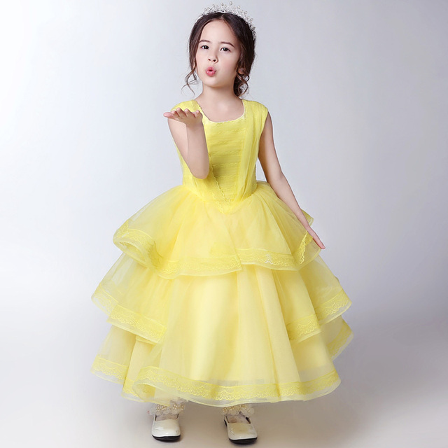 Yellow flower girl dresses wedding dress ball gown lace baby girl yellow flower girl dresses wedding dress ball gown lace baby girl party dress ankle length mightylinksfo