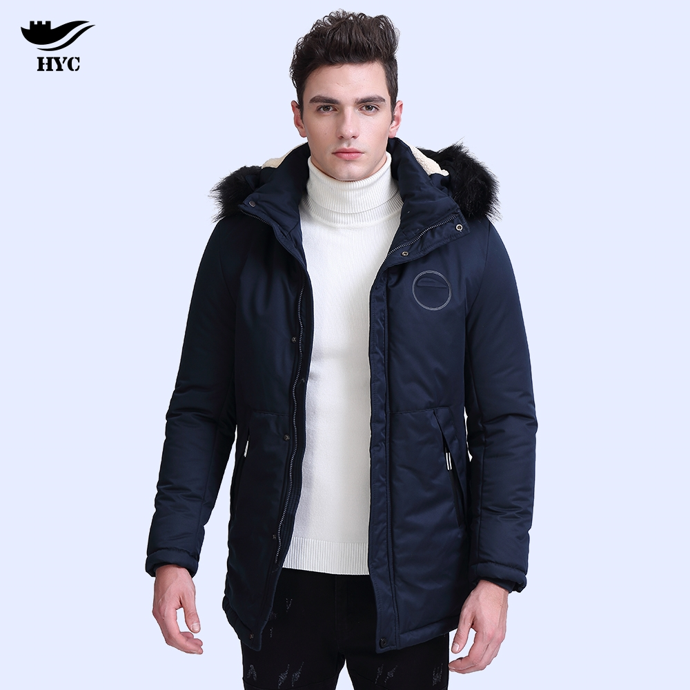 HAI YU CHENG Winter Jacket Men Coat Mens Hooded Jackets Parka Long Men's Windbreaker Tactical Trench Anorak Fleece Collar 2910H hai yu cheng winter jacket men wadded parka male wind breaker long trench coat plus size men coat outerwear hood winter anorak