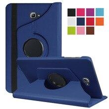 """Tab A6 10,1 360 градусов вращающийся Folio PU кожаный чехол откидная крышка для Samsung Galaxy Tab A 6 10,1 T580 T585 10,"""" чехол для планшета"""