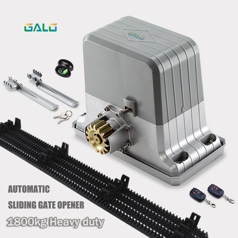 Heavy duty 1800kg automatic sliding gate motor AUTO sliding gate opener engine with 4m Nylon racks & remote control keyfobs