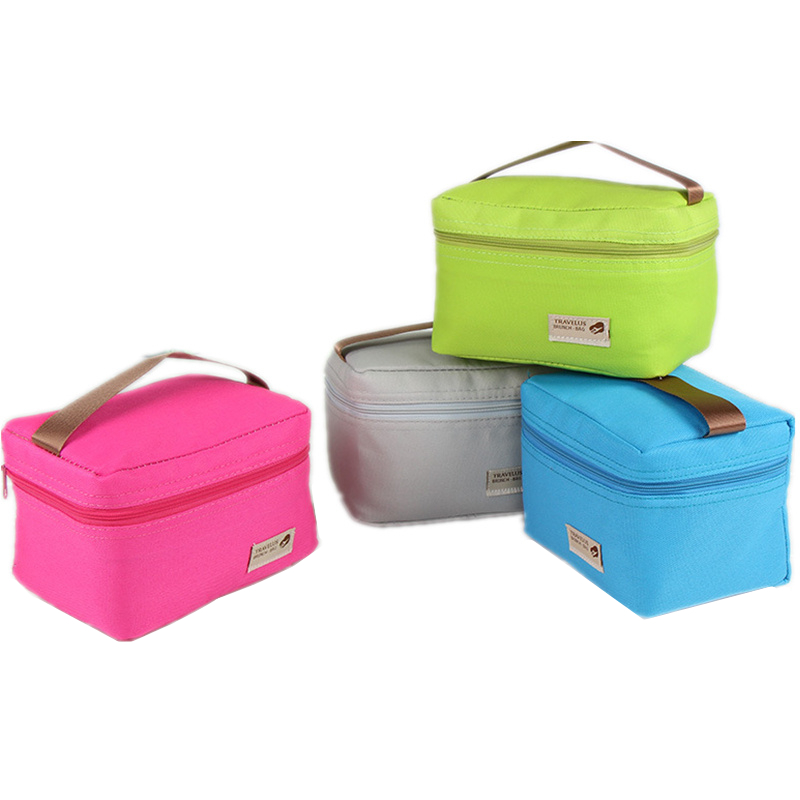 Drop Shipping Nylon Practical Small Portable Ice Bags Cooler Lunch Bag Leisure Picnic Packet Bento Box Food Thermal Bags