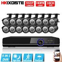 16CH 1080 P HDMI DVR 2500TVL 960 P HD Открытый безопасности Камера Системы 16 канальный видеонаблюдения DVR комплект 1.3MP AHD Камера комплект