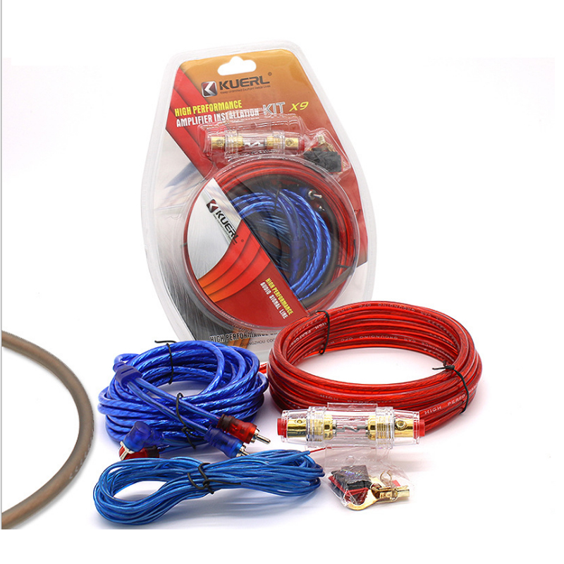 Car Power Amplifier Installation Kit Auto Car Speaker Woofer Subwoofer Cables Audio Wire Wiring Line with Fuse Suit