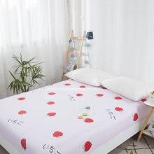 Покрывало для матраса с клубничкой, фруктовое постельное покрывало защитный наматрасник, детское постельное белье для взрослых, простыня на резинке