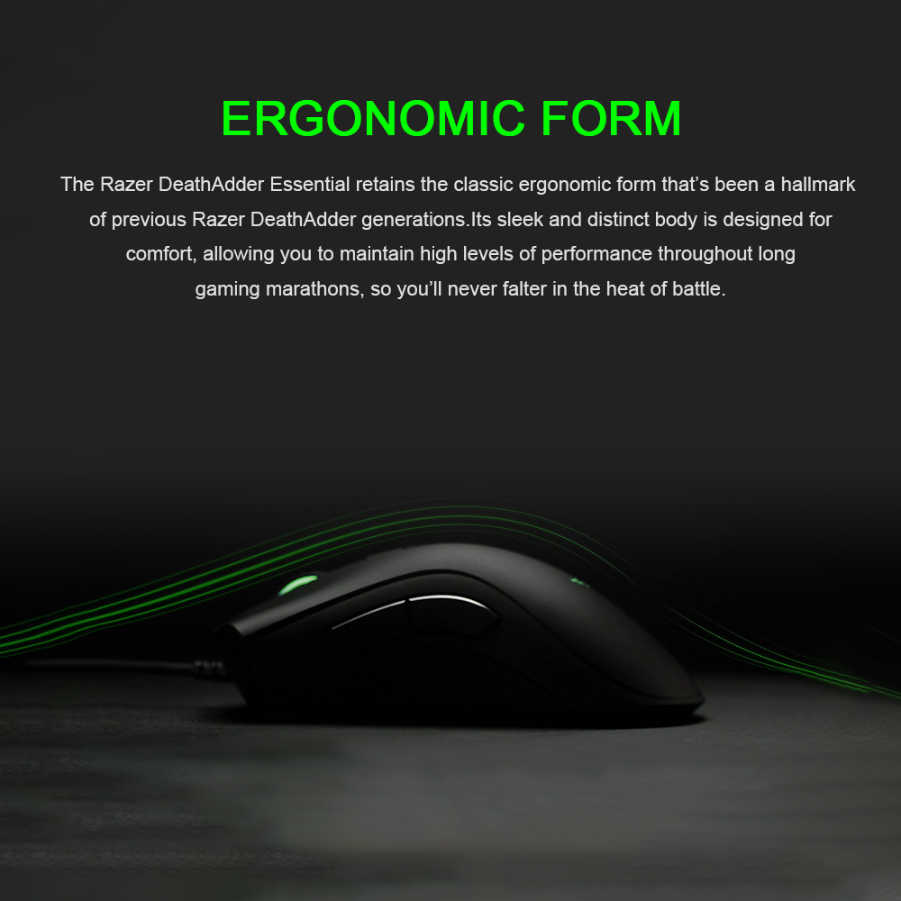 Original Razer DeathAdder Essential Wired Gaming Mouse Mice 6400DPI Optical Sensor 5 Independently Buttons For Laptop PC Gamer HTB1q8GYX4z1gK0jSZSgq6yvwpXaR Mice