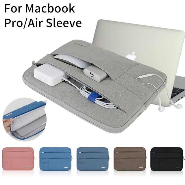 meet 2aeb8 a2414 US $14.16 19% OFF|Notebook Sleeve Multi Pocket for Macbook Pro/Air 11 12 13  14 15inch Women Laptop Bag Waterproof Case For Mac 13.3 15.4 Touchbar-in ...
